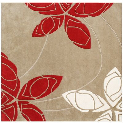 Pike Hand-Tufted Area Rug Rug Size: Square 6