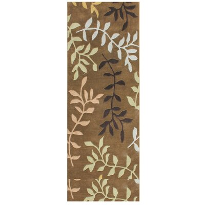 De Aviles Hand-Tufted Brown Area Rug Rug Size: Runner 3 x 10