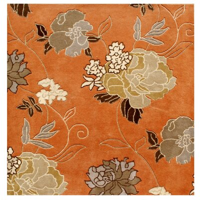 Gilbert Hand-Tufted Rust Area Rug Rug Size: Square 6