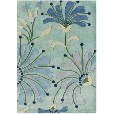 Giovanni Hand-Tufted Nile Blue Area Rug Rug Size: Rectangle 5 x 8