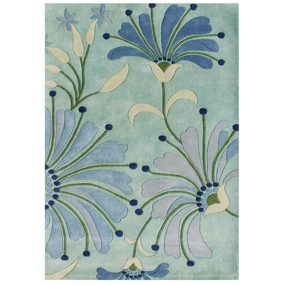 Giovanni Hand-Tufted Nile Blue Area Rug Rug Size: Rectangle 8 x 10