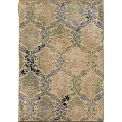 Soft Links Green Area Rug Rug Size: 53 x 76