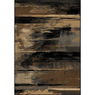 Artistic Smear Black Area Rug Rug Size: 710 x 1010