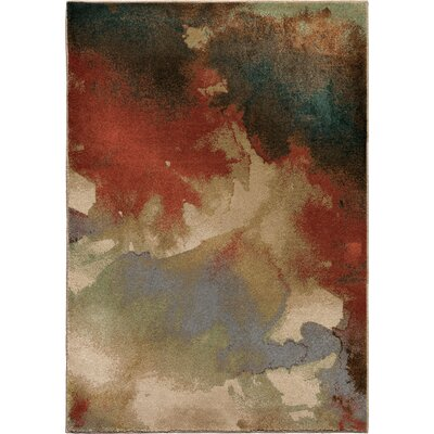 Blotch Multi Area Rug Rug Size: 53 x 76