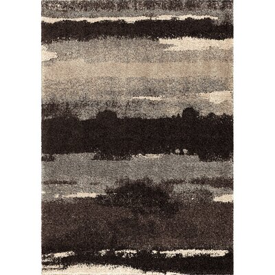 Cabell Black Area Rug Rug Size: 710 x 1010