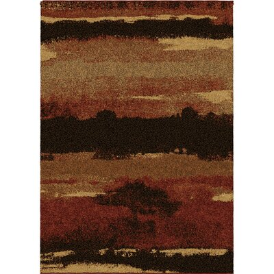 Cabell Red Area Rug Rug Size: 53 x 76