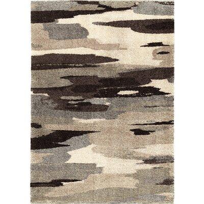 Cyna Black/Gray Area Rug Rug Size: 53 x 76