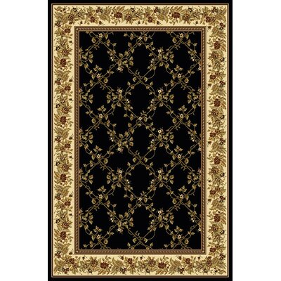 Keating Black Area Rug Rug Size: 55 x 83