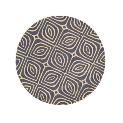 Wainwright Hand Tufted Blue Area Rug Rug Size: Round 6