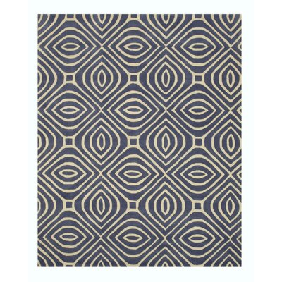 Wainwright Hand Tufted Blue Area Rug Rug Size: Rectangle 9 x 12
