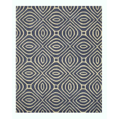 Wainwright Hand Tufted Blue Area Rug Rug Size: 5 x 8