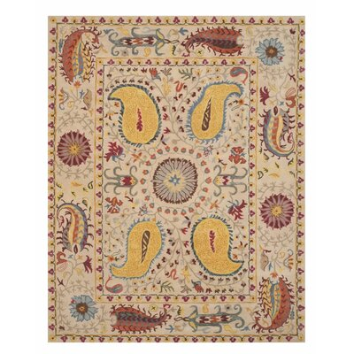 Colleen Hand Tufted Ivory Area Rug Rug Size: Rectangle 89 x 119