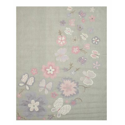 GretchenHand Tufted Gray Area Rug Rug Size: 3 x 5
