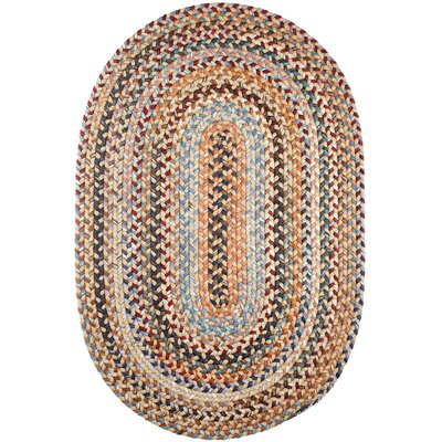 Handmade Orange Area Rug Rug Size: Oval 5 x 8