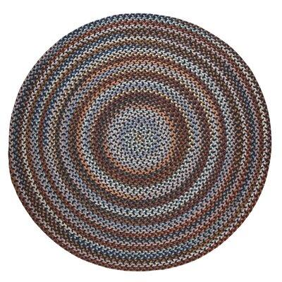 Handmade Black Area Rug Rug Size: Round 4