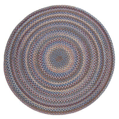 Handmade Blue Area Rug Rug Size: Round 6