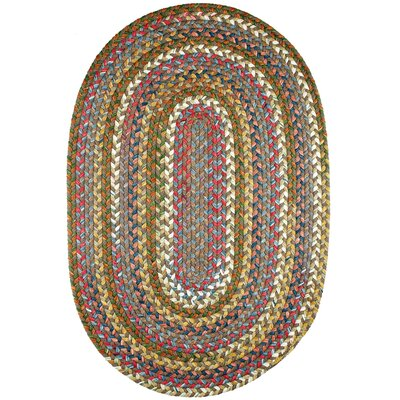 Handmade Bronze Indoor/Outdoor Area Rug Rug Size: Oval 3 x 5