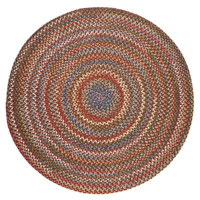 Handmade Tawny Port Indoor/Outdoor Area Rug Rug Size: Round 4