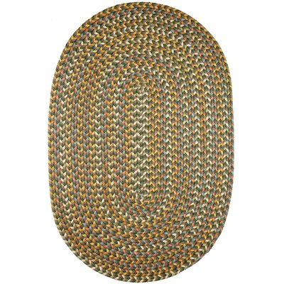 Handmade Dark Taupe Indoor/Outdoor Area Rug Rug Size: Oval 5 x 8