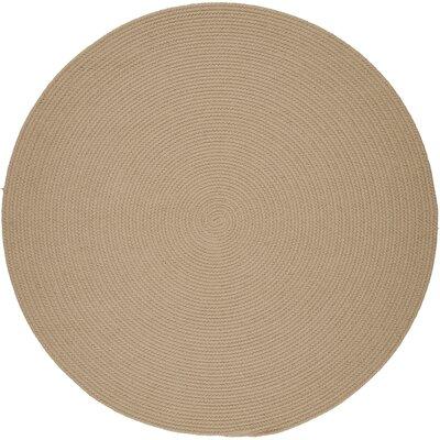 Handmade Beige Indoor/Outdoor Area Rug Rug Size: Round 6'