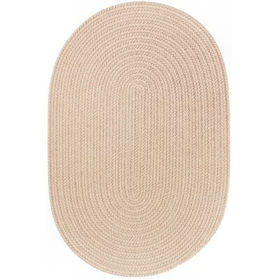 Handmade Beige Indoor/Outdoor Area Rug Rug Size: Oval 4 x 6