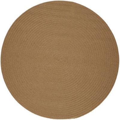 Handmade Camel Indoor/Outdoor Area Rug1 Rug Size: Round 4