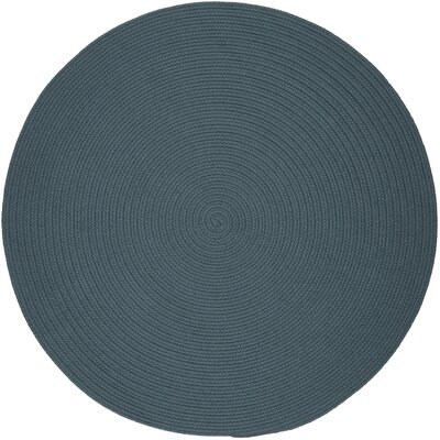 Handmade Ocean Blue Indoor/Outdoor Area Rug Rug Size: Round 6