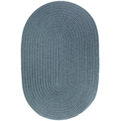 Handmade Ocean Blue Indoor/Outdoor Area Rug Rug Size: Oval 2 x 3