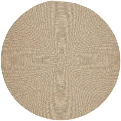 Handmade Sand Area Rug Rug Size: Round 8