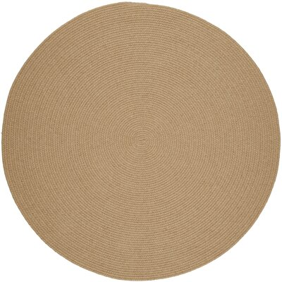 Handmade Wheat Area Rug Rug Size: Round 6