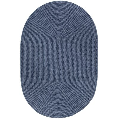 Handmade Sailor Blue Area Rug Rug Size: Oval  7 x 9