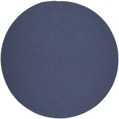 Handmade Sailor Blue Area Rug Rug Size: Round 4