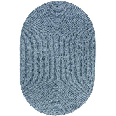 Handmade Blue Area Rug Rug Size: Oval 7 x 9