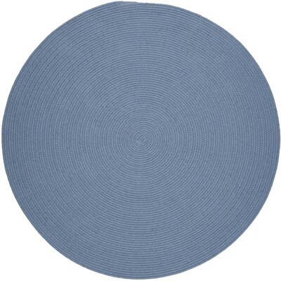 Handmade Blue Area Rug Rug Size: Round 8