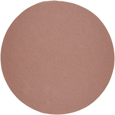 Handmade Red Area Rug Rug Size: Round 8