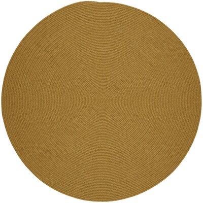Handmade Vintage Gold Area Rug Rug Size: Round 8