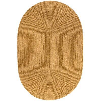 Handmade Vintage Gold Area Rug Rug Size: 8 x 11