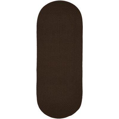 Handmade Brown Indoor/Outdoor Area Rug Rug Size: Runner 2 x 8