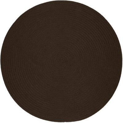 Handmade Brown Indoor/Outdoor Area Rug Rug Size: Round 4