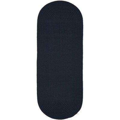 Handmade Navy Indoor/Outdoor Area Rug Rug Size: Runner 2 x 6