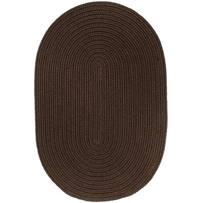 Handmade Brown Indoor/Outdoor Area Rug Rug Size: Oval 2 x 4