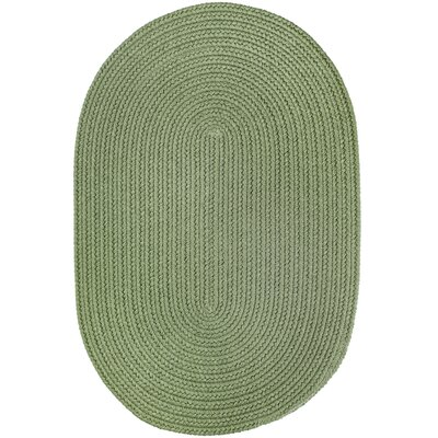 Handmade Olive Indoor/Outdoor Area Rug Rug Size: Oval  10 x 13