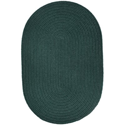 Handmade Spruce Green Indoor/Outdoor Area Rug Rug Size: Oval 10 x 13