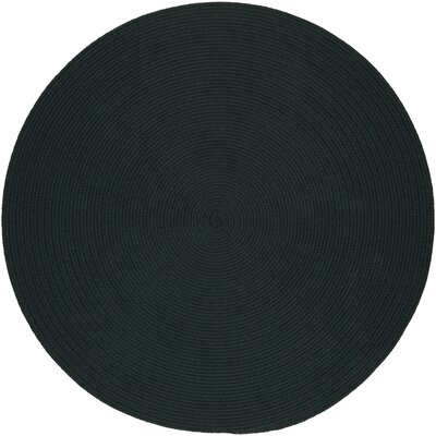 Handmade Spruce Green Indoor/Outdoor Area Rug Rug Size: Round 10