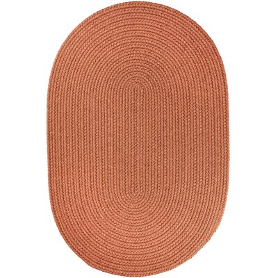 Handmade Almond Indoor/Outdoor Area Rug Rug Size: Oval  8 x 11