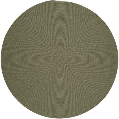 Handmade Moss Green Area Rug Rug Size: Round 6