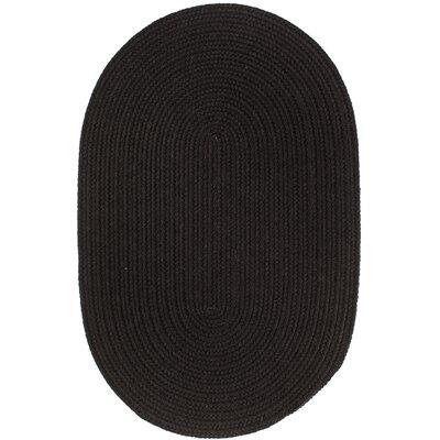 Handmade Black Area Rug Rug Size: 10 x 13