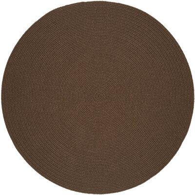 Handmade Brown Area Rug Rug Size: Round 4