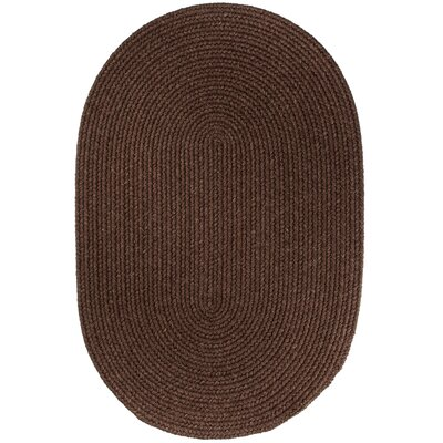 Handmade Brown Area Rug Rug Size: Oval 7 x 9