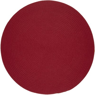 Handmade Red Area Rug Rug Size: Round 4